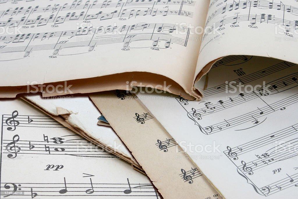 Old music score royalty-free stock photo