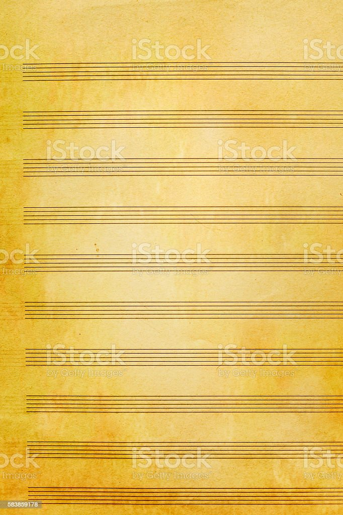 Old music sheet background and texture stock photo