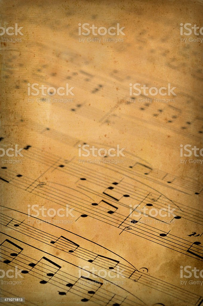 Old music sheet royalty-free stock photo