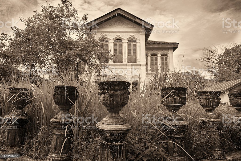 Old mysterious mansion royalty-free stock photo