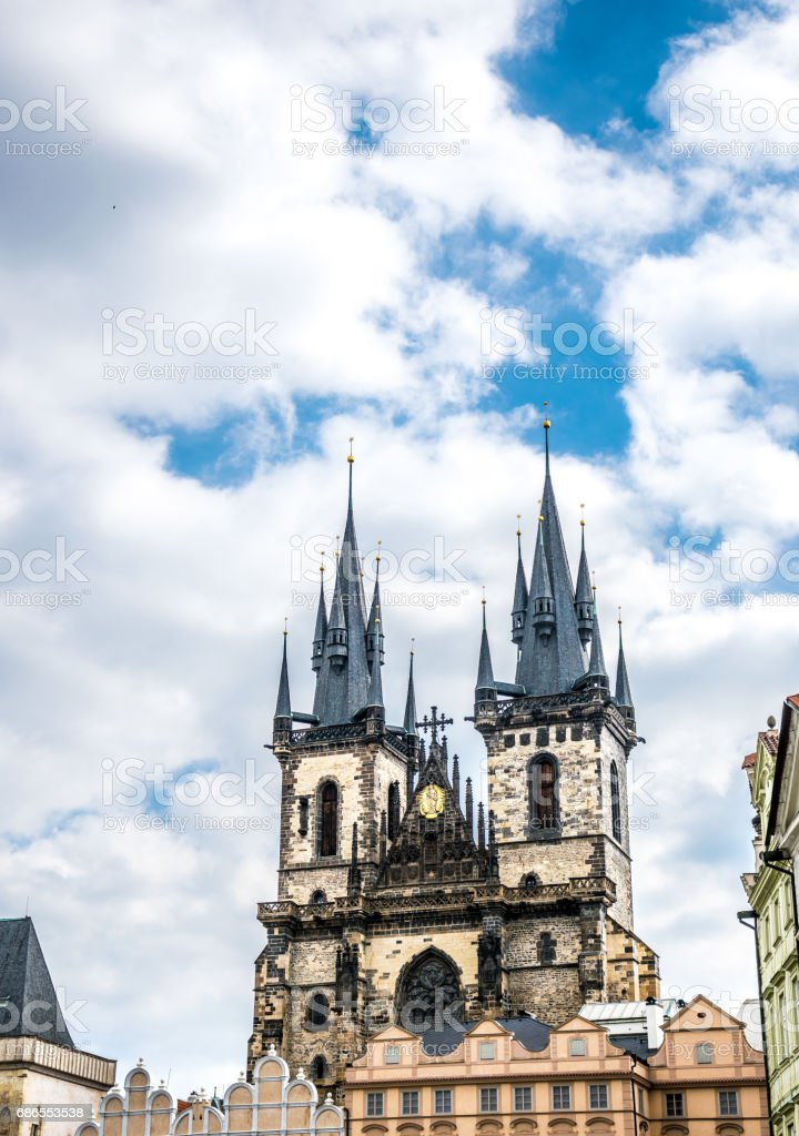 Old mystic Prague. A Journey Through Ancient Europe foto stock royalty-free