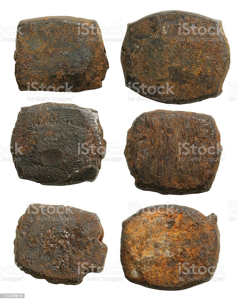 Old Nail Heads royalty-free stock photo
