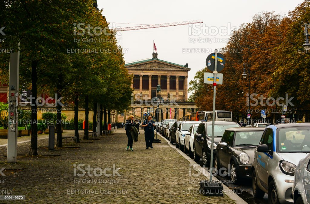 Old National Gallery at Museum Island in Berlin, Germany stock photo