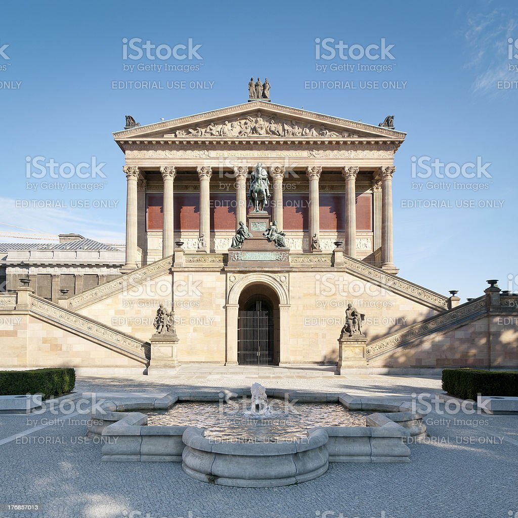 Old National Gallery (Alte Nationalgalerie) Berlin stock photo
