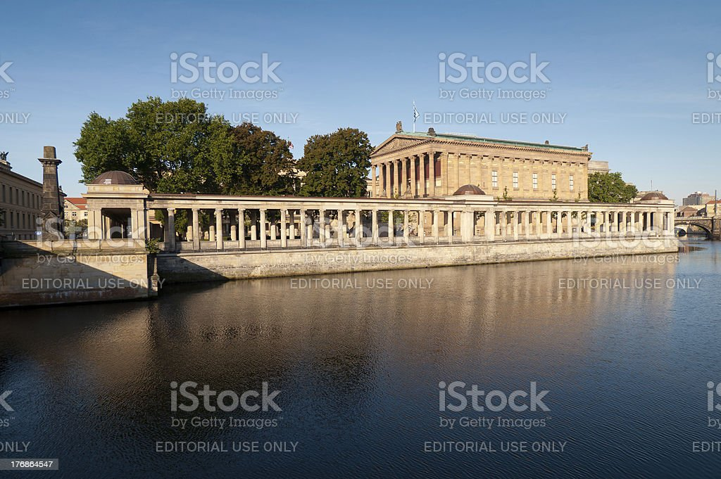 Old National Gallery (Alte Nationalgalerie) Berlin stock photo