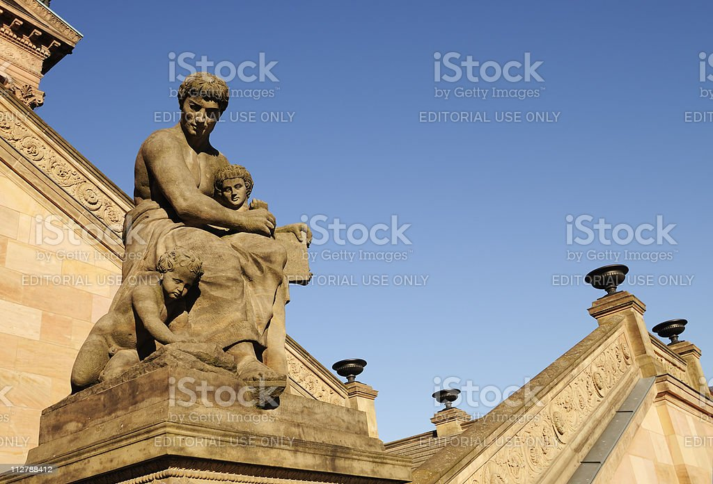 Old National Gallery in Berlin, Germany royalty-free stock photo