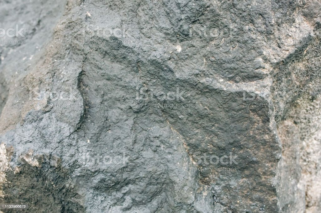 Old natural grey stone texture background. - Foto stock royalty-free di Ambientazione esterna