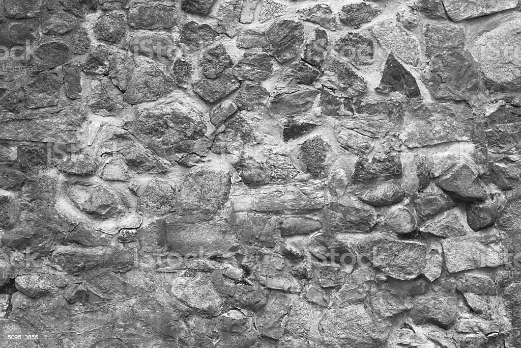 Old natural stone wall stock photo
