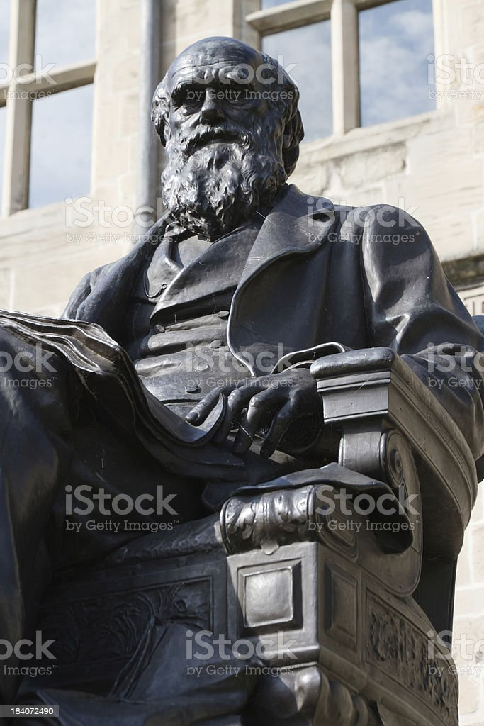 Old naturalist and scientist. stock photo