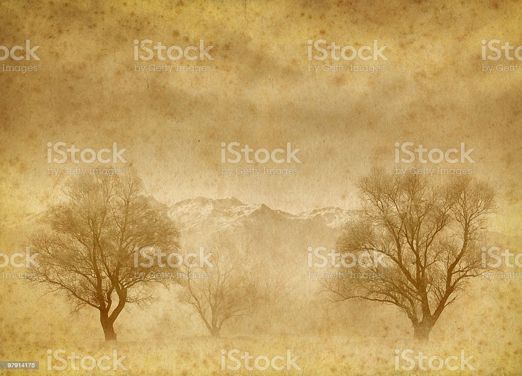 old nature scene royalty-free stock photo