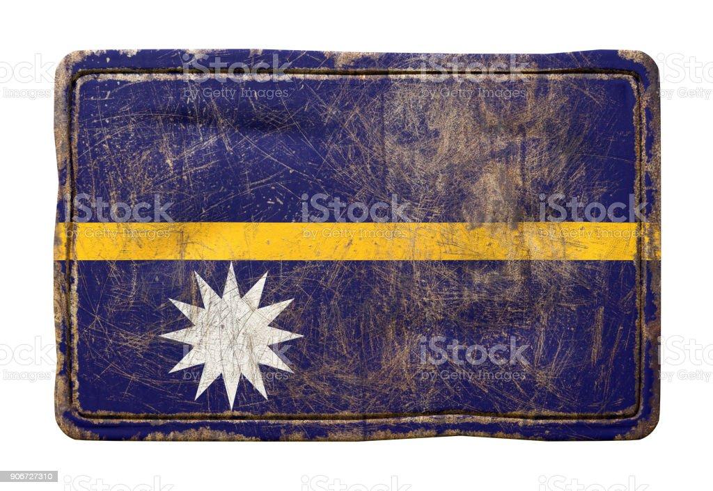 Old Nauru flag stock photo