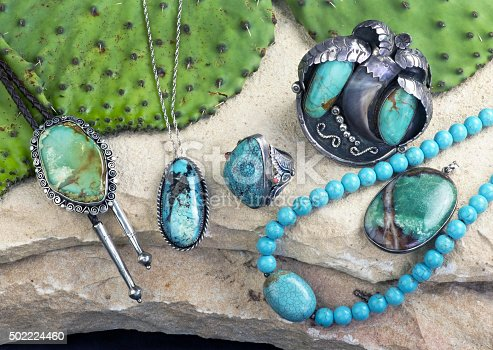 istock Old Navajo Turquoise. 502224460