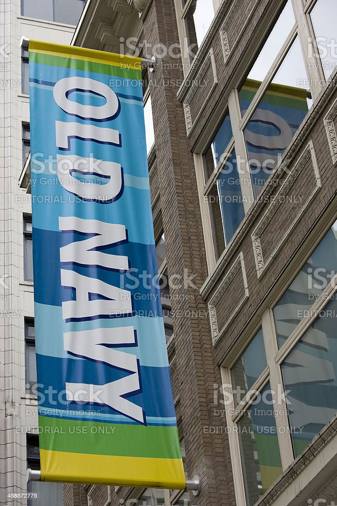Old Navy Clothing Store Seattle Downtown royalty-free stock photo