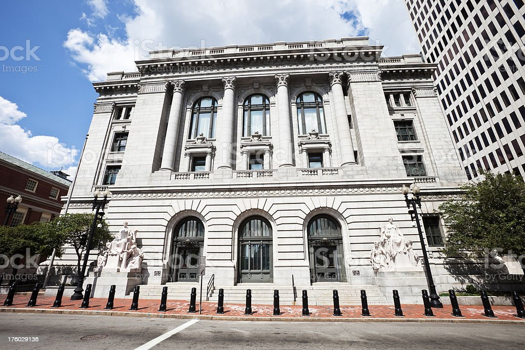 Old Neoclassical Court House in Providence stock photo