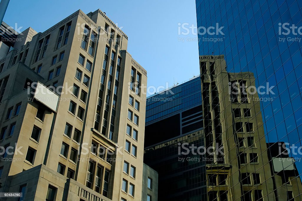 Old & New Buildings royalty-free stock photo