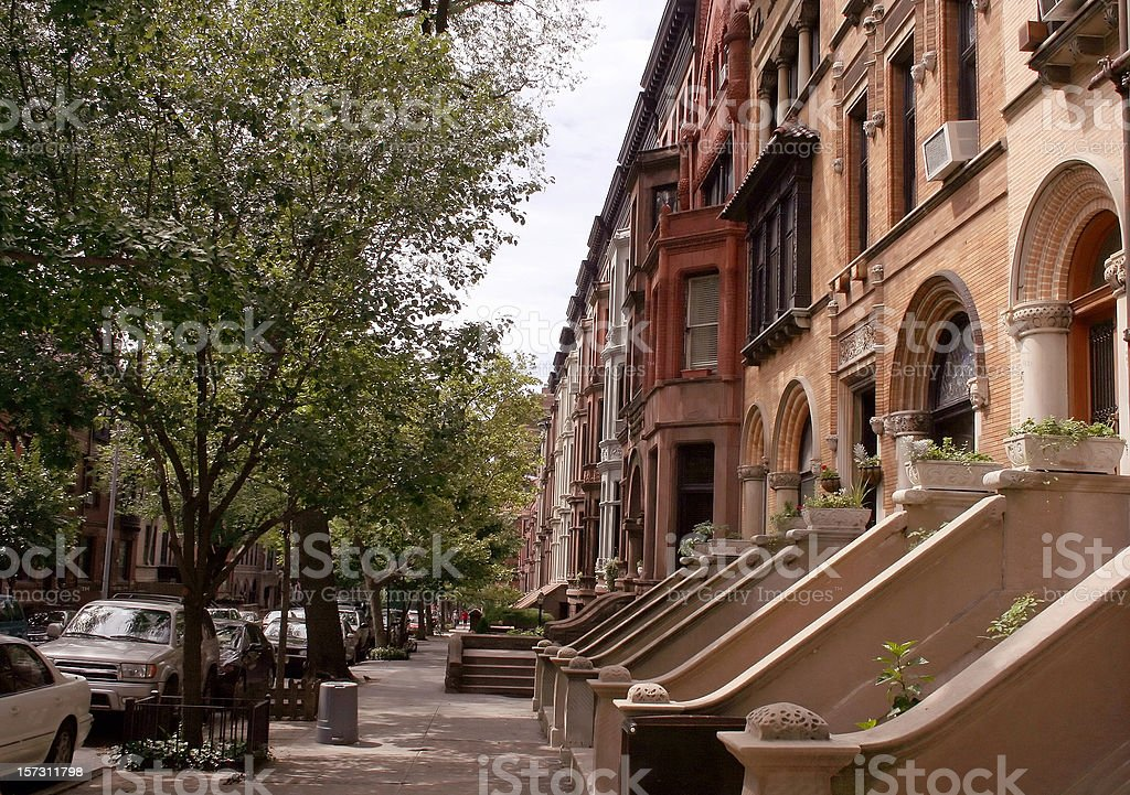 Old New York: Brooklyn Brownstones royalty-free stock photo