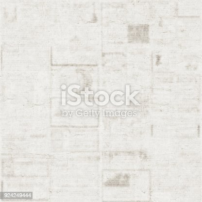 istock Old newspaper texture background 924249444