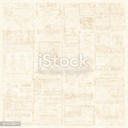 1134202009 istock photo Old newspaper texture background 924249912