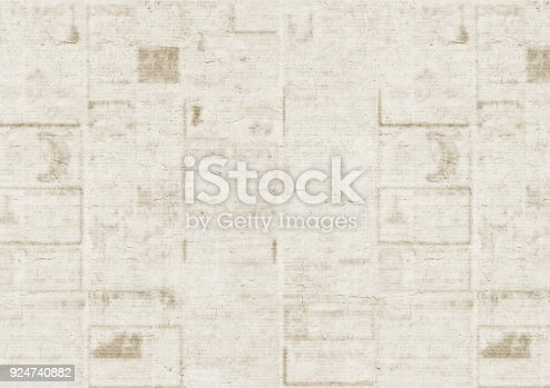 istock Old newspaper texture background 924740882