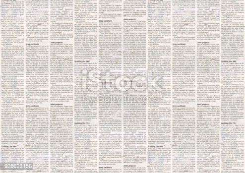 istock Old newspaper texture background 928623156