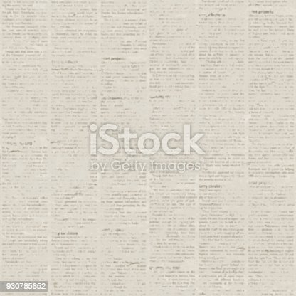 istock Old newspaper texture background 930785652