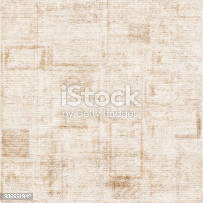 istock Old newspaper texture background 936991942