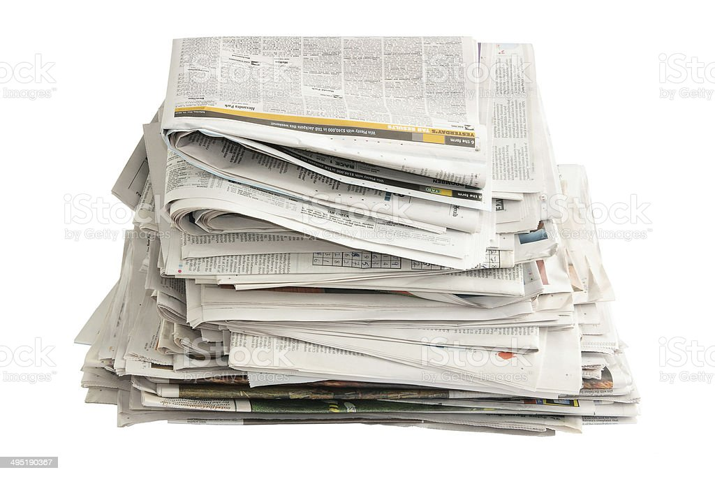 Old Newspapers for Recycling stock photo