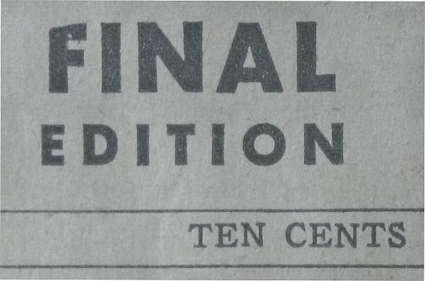 Old Newsprint - Final Edition stock photo