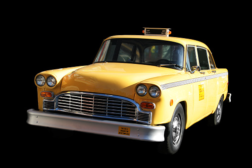 1960's style yellow cab.