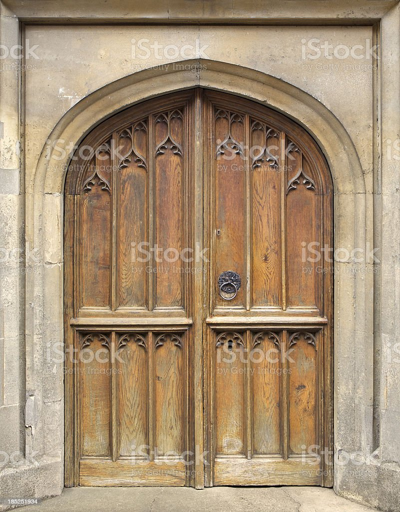 old nineteenth century church door stock photo