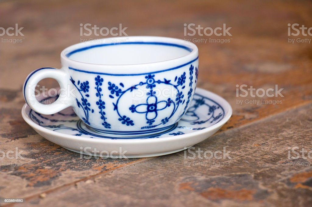 Old North German Teacup stock photo