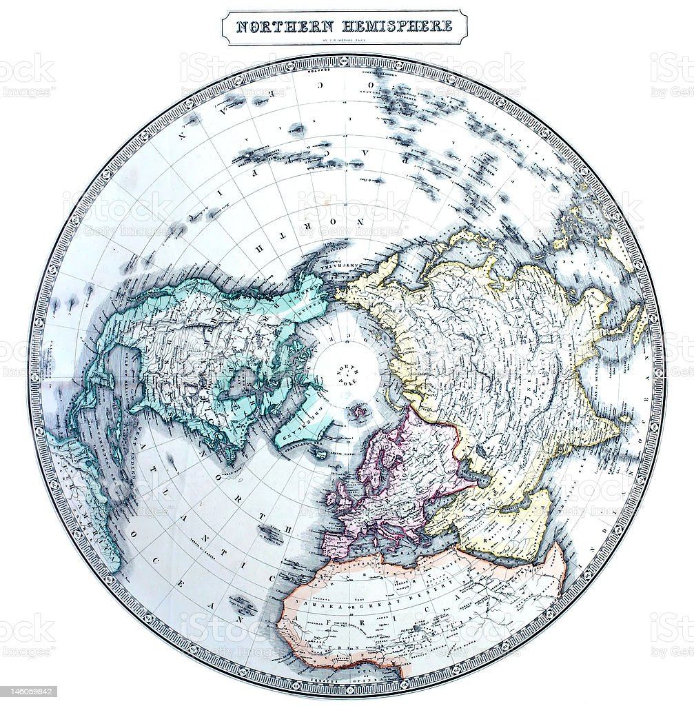Old northern hemisphere map stock photo more pictures of antique old northern hemisphere map royalty free stock photo gumiabroncs Images