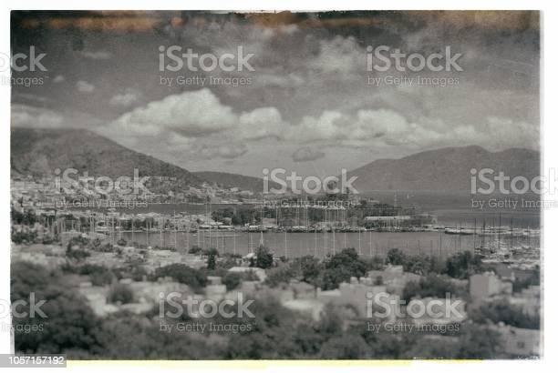 Old nostalgic photo of  Bodrum - Turkeye