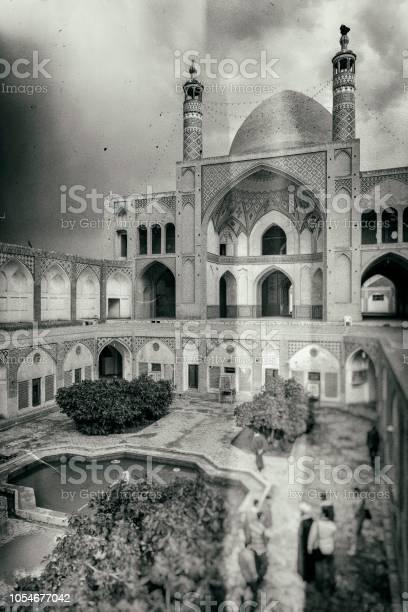 Old nostalgic photo of Kashan, Iran