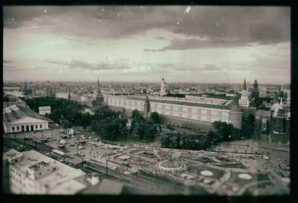 モスクワ、ロシアの古い懐かしい写真 - 1930~1939年 ストックフォトと画像