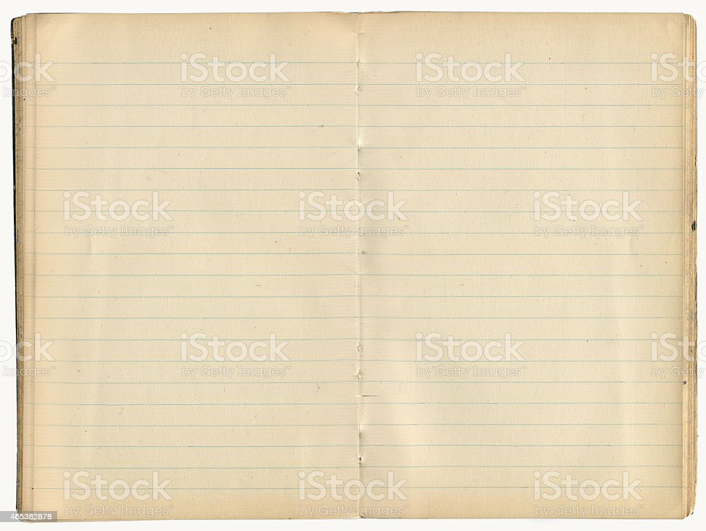 Old Notebook – Blank Inside Pages (includes Clipping Path) stock photo