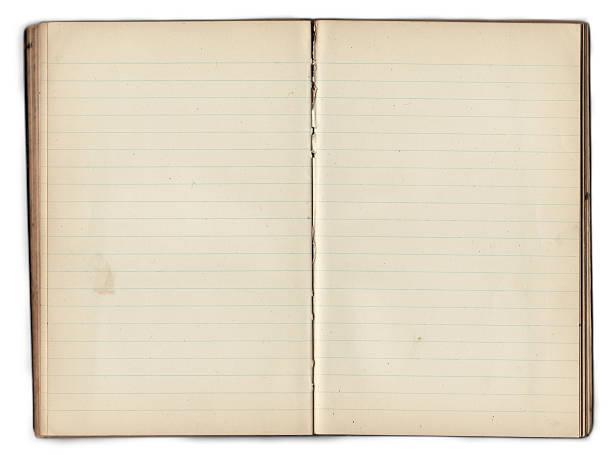 Vieux Carnet – Vide intérieur avec des Pages (Tracé de détourage) - Photo