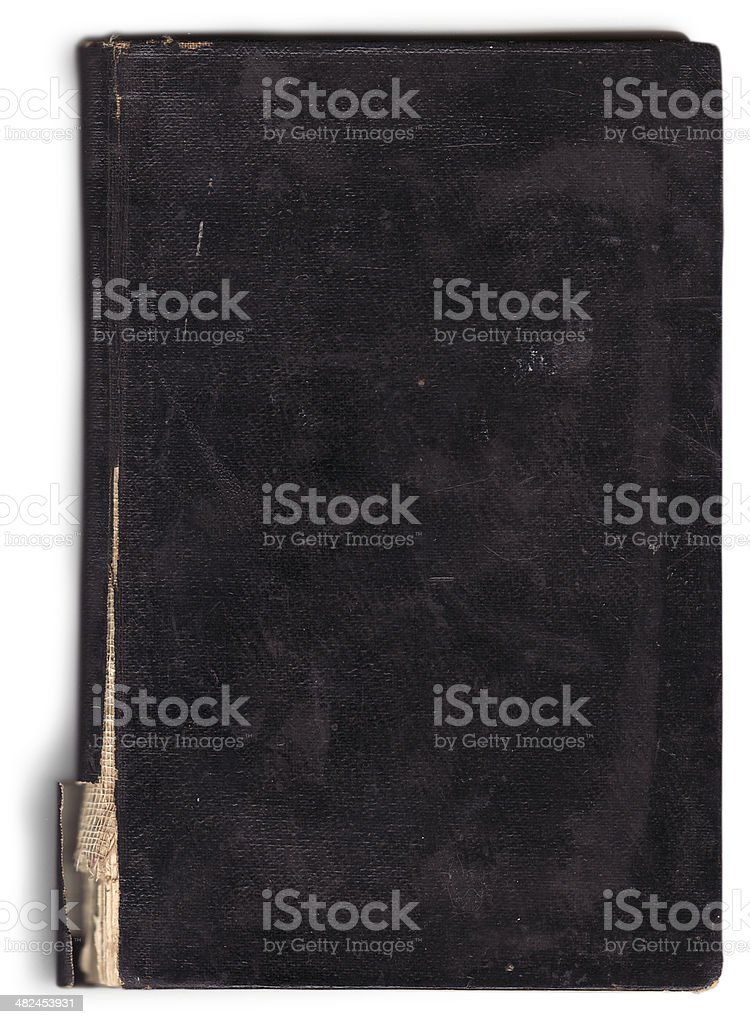 Old notebook cover (with clipping path) stock photo