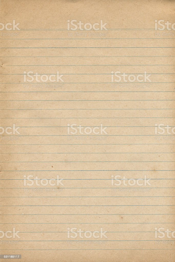 Old Notebook Paper Texture stock photo