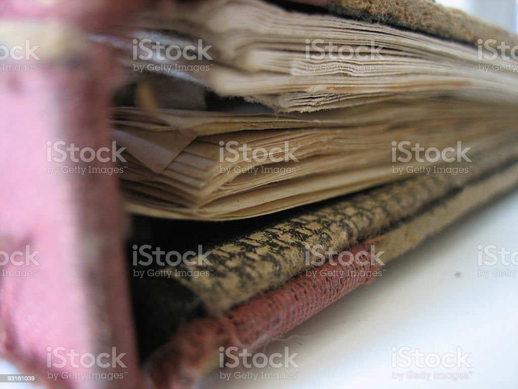 Old Notebook royalty-free stock photo