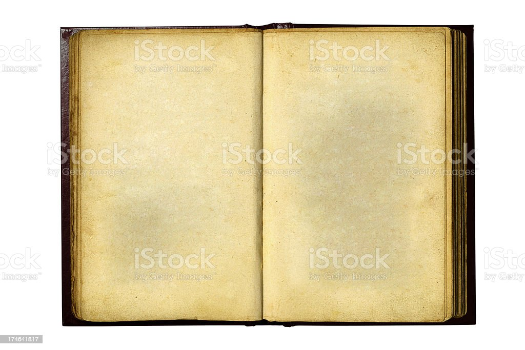 Old Notebook With Clipping Path royalty-free stock photo