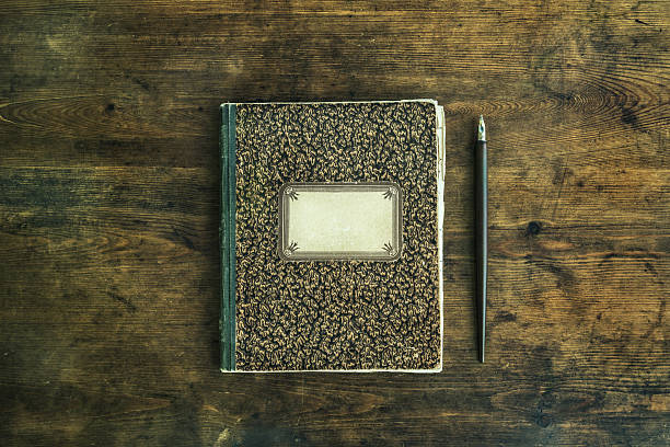 old notebook with pencil - address book stock photos and pictures