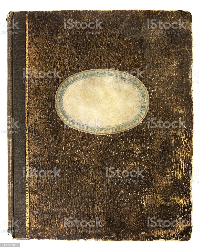 Old notebook's cover stock photo