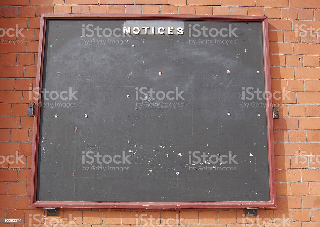Old Notice Board royalty-free stock photo
