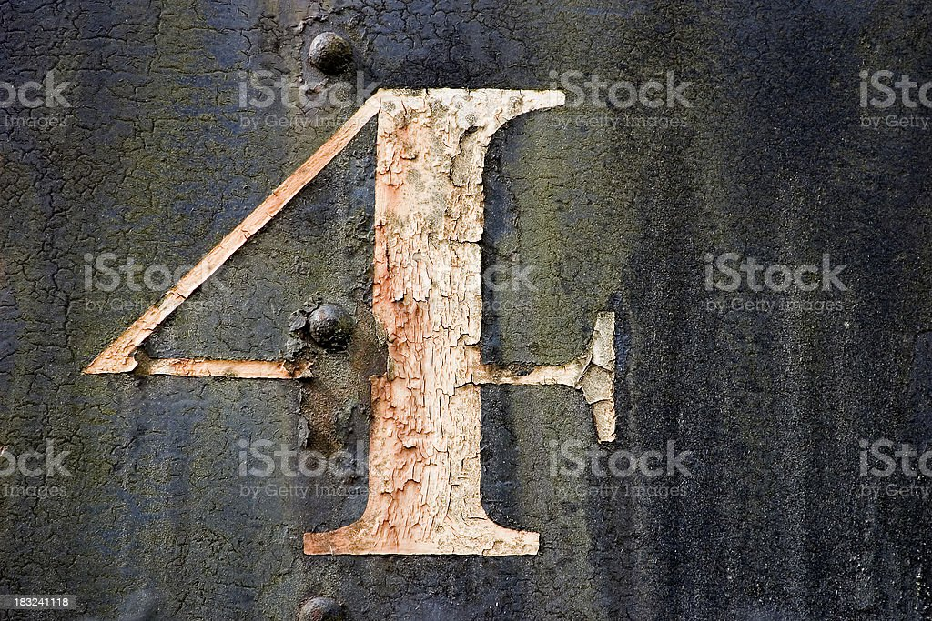 Old number four royalty-free stock photo