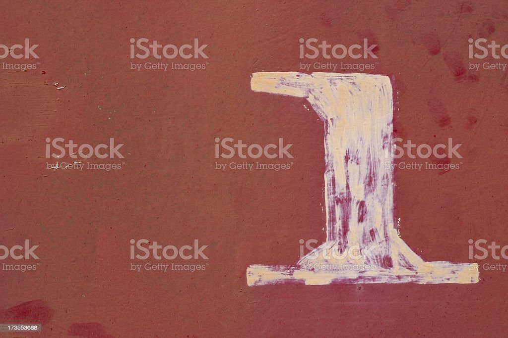 Old number one royalty-free stock photo