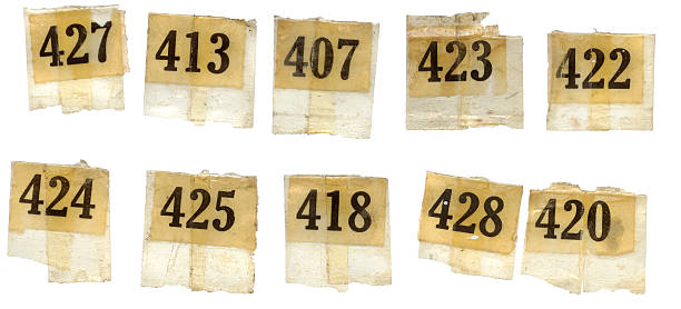 old numbers - rubber stamp texture stock photos and pictures