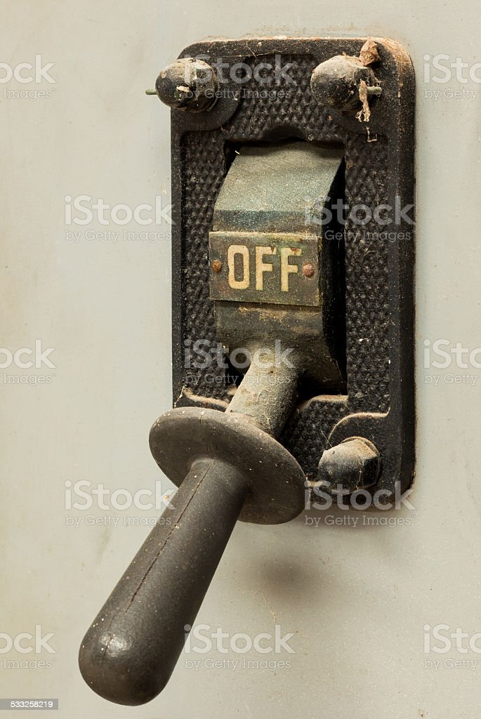 Old Off Switch stock photo