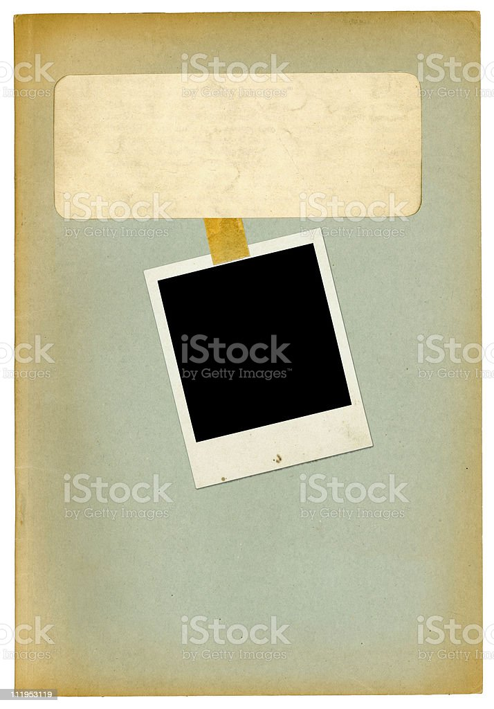 Old office folder with photo royalty-free stock photo