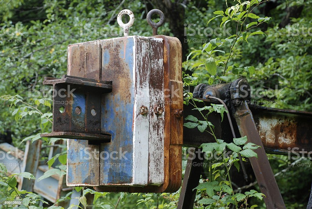 Old Oil Equipment royalty-free stock photo